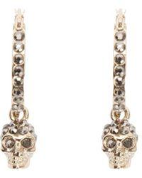 Alexander McQueen Skull Earrings - Metallic