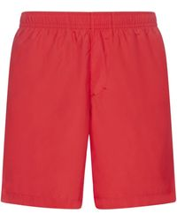 Givenchy 4g Plaque Knee-length Swim Shorts - Red