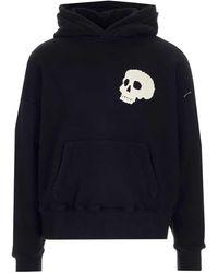 Palm Angels Skull Hoodie - Black