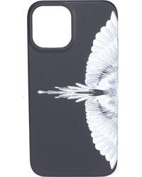 Marcelo Burlon Wings Printed Iphone 12 Pro Case - Black