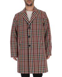 Barena - Check-print Oversized Coat - Lyst