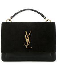 Saint Laurent Monogram Top Handle Handbag - Black