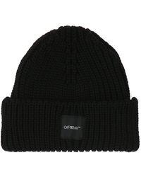 Off-White c/o Virgil Abloh Logo Wool Beanie - Black