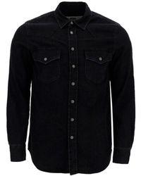 DIESEL Western Denim Overshirt - Black