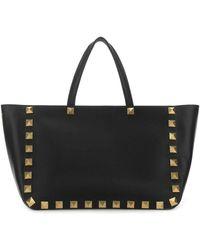 Valentino Garavani Garavani Rockstud Roman Tote Bag - Black