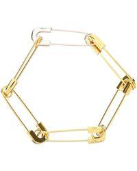 Ambush Safety Pin Link Bracelet - Metallic