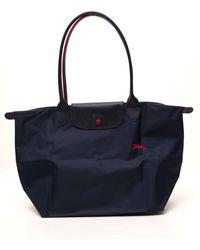 Longchamp Le Pliage Club Large Shoulder Bag - Blue