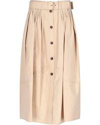 Chloé Chloé Beige Cotton Skirt - Brown