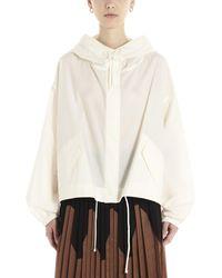 Jil Sander Essential Outdoor 3 Logo Print Jacket - White