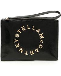 Stella McCartney Logo Clutch - Black