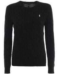 Polo Ralph Lauren Cable Knit Jumper - Black