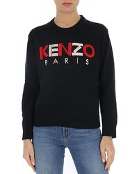 KENZO Logo Embroidered Sweater - Black