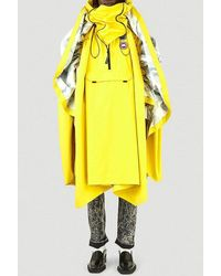 Y. Project X Canada Goose Field Panelled Poncho - Yellow