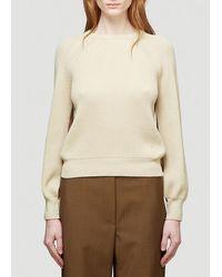 Max Mara Pepato Crewneck Knit Sweater - Natural