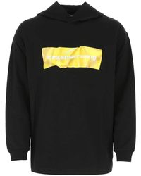 Alexander Wang Black Cotton Sweatshirt
