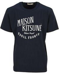 Maison Kitsuné Palais Royal Classic T-shirt - Blue