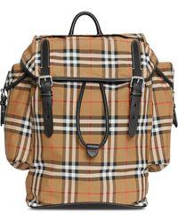 Burberry Vintage Check Backpack - Black
