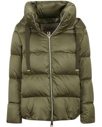 Herno Puffer Hooded Jacket - Green