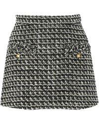 Valentino Tweed Mini Skirt - Black