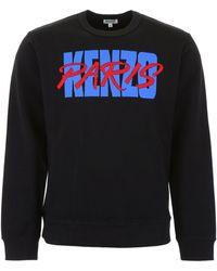 KENZO Black Paris Printed Sweatshirt