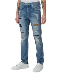 R13 Patchwork Detailed Jeans - Blue