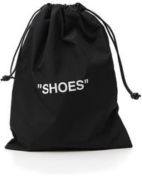 Off-White c/o Virgil Abloh Quote Drawstring Shoes Bag - Black