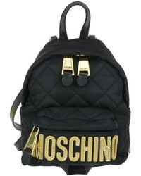 Moschino Mini Quilted Logo Backpack - Black