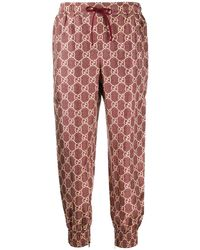 Gucci GG Supreme Print Pants - Red