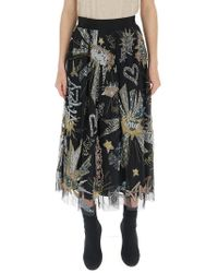 8c5c316e6 Sharon Wauchob Draped Skirt in Natural - Lyst