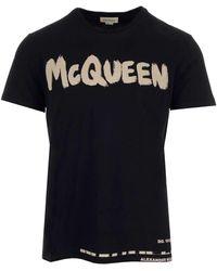 Alexander McQueen Graffiti Logo T-shirt - Black