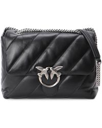 Pinko Love Puff Quilted Shoulder Bag - Black