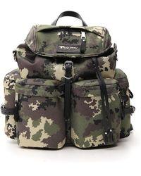 Miu Miu Cordura Camouflage Drawstring Backpack - Multicolour