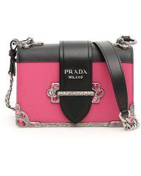 8bd630cb8944 Prada Envelope Metallic Shoulder Bag in Purple - Lyst