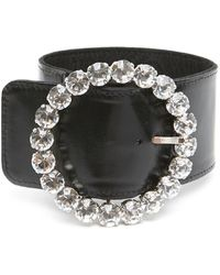 The Attico Buckle Anklet - Black