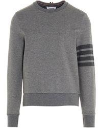 Thom Browne 4-bar Crewneck Sweatshirt - Grey