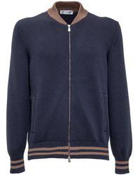 Brunello Cucinelli Zip-up Cardigan - Blue