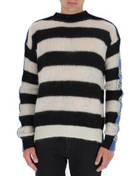 Marni Panelled Striped Jumper - Multicolour