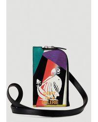 Lanvin Zip-around Lanyard Wallet - Multicolour