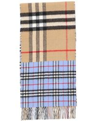 Burberry Contrast Check Fringed Scarf - Multicolour