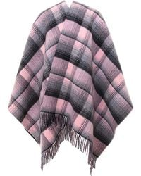 Gucci Reversible GG Check Fringed Poncho - Multicolor