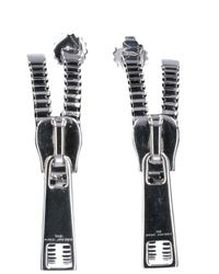 Marc Jacobs Zipper Hoop Earrings - Metallic