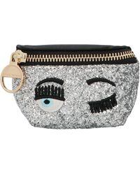 Chiara Ferragni Flirting Eye Mignon Glitter Belt Bag - Metallic