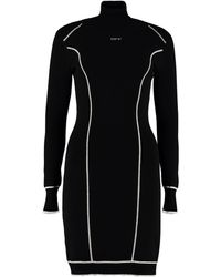 Off-White c/o Virgil Abloh Intarsia Knit-dress - Black