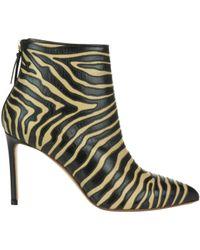 Francesco Russo - Zebra Print Pointy Boots - Lyst