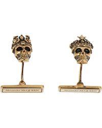 Alexander McQueen Skull Cufflinks - Metallic