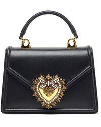 Dolce & Gabbana Devotion Small Tote Bag - Black