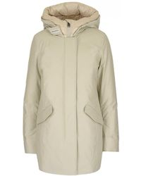 Woolrich Artic Hooded Parka - White