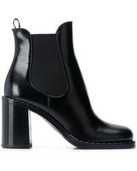 Prada 85 Glossed-leather Chelsea Boots - Black