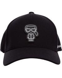 Karl Lagerfeld Men's Hat Baseball Cap K/iconic - Black