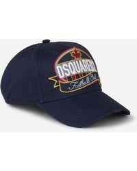 DSquared² Logo Patch Baseball Cap - Blue